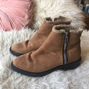 Forever 21 Fur Lined Suede Boots